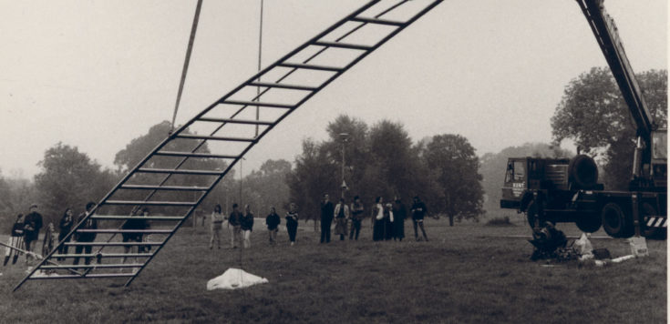 Maryrose Sinn Installation of 'Ladder' (1986).
