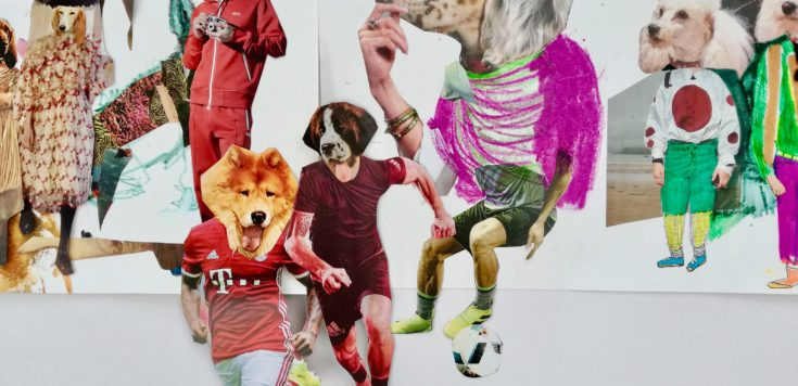 dogs heads collage Alexa Lowe
